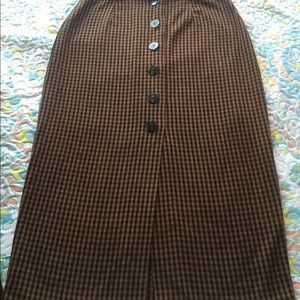 try collection by ZARA long buttoned skirt